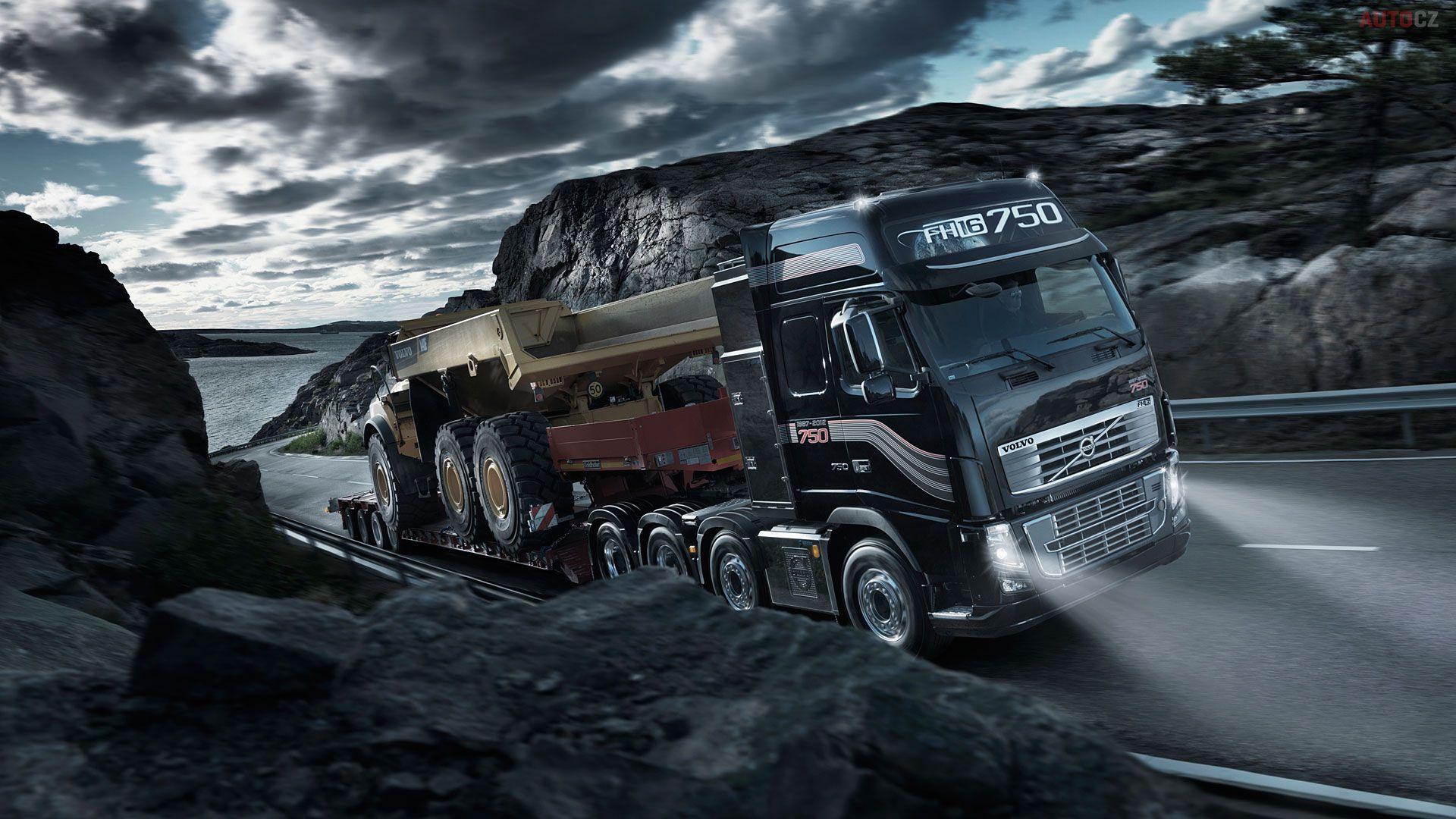 Auto Car Dump Truck Hd Wallpaper Free Download 1920 1080 Volvo Trucks Trucks Volvo