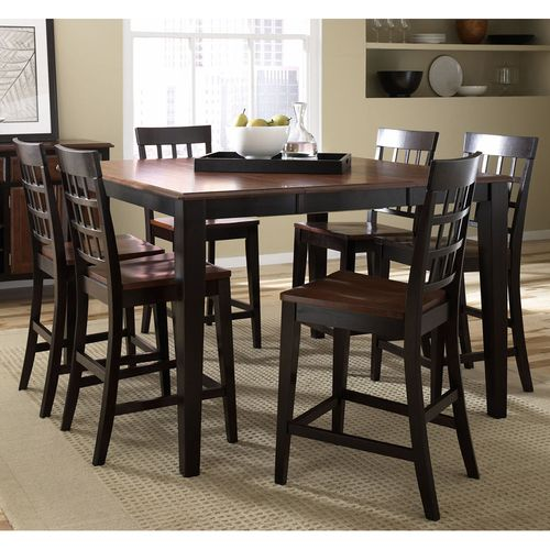 Dining Room Table  Pub Style Height With 6 Chairslove This Endearing High Dining Room Table Design Ideas