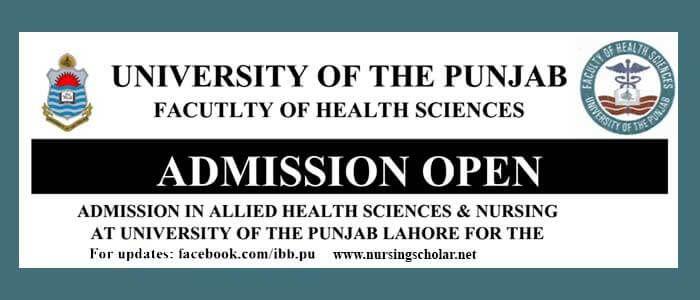 Nursing Admissions In Punjab University Open For Bachelor Of Science In Nursing Bsn Bachelor Of Science In Nursing Nurse Nursing Degree