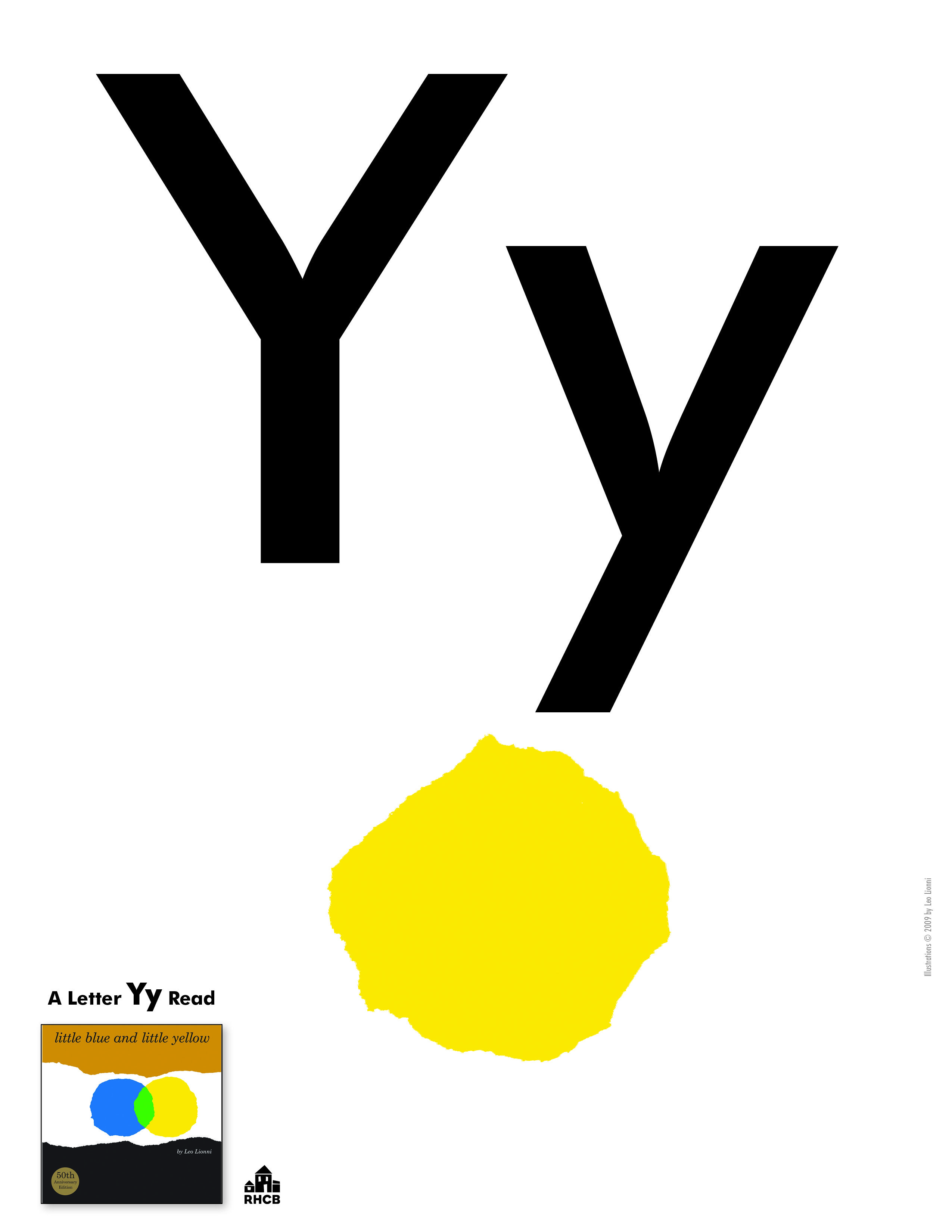 Letter Yy Card - print out and use to start a bulletin board ...