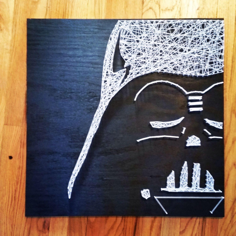Darth Vader Star Wars String Art | Darth vader star wars, Vader star ...