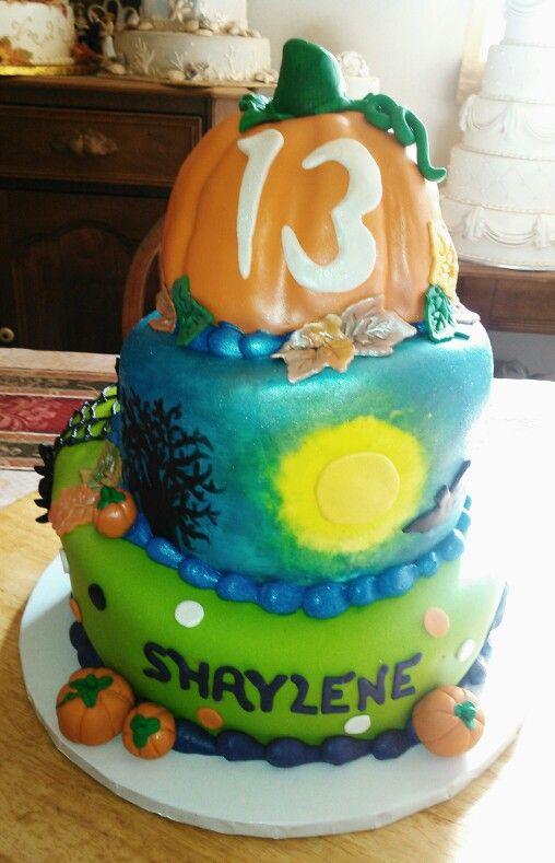 Halloween birthday cake Birthday cakes Pinterest - halloween birthday cake ideas