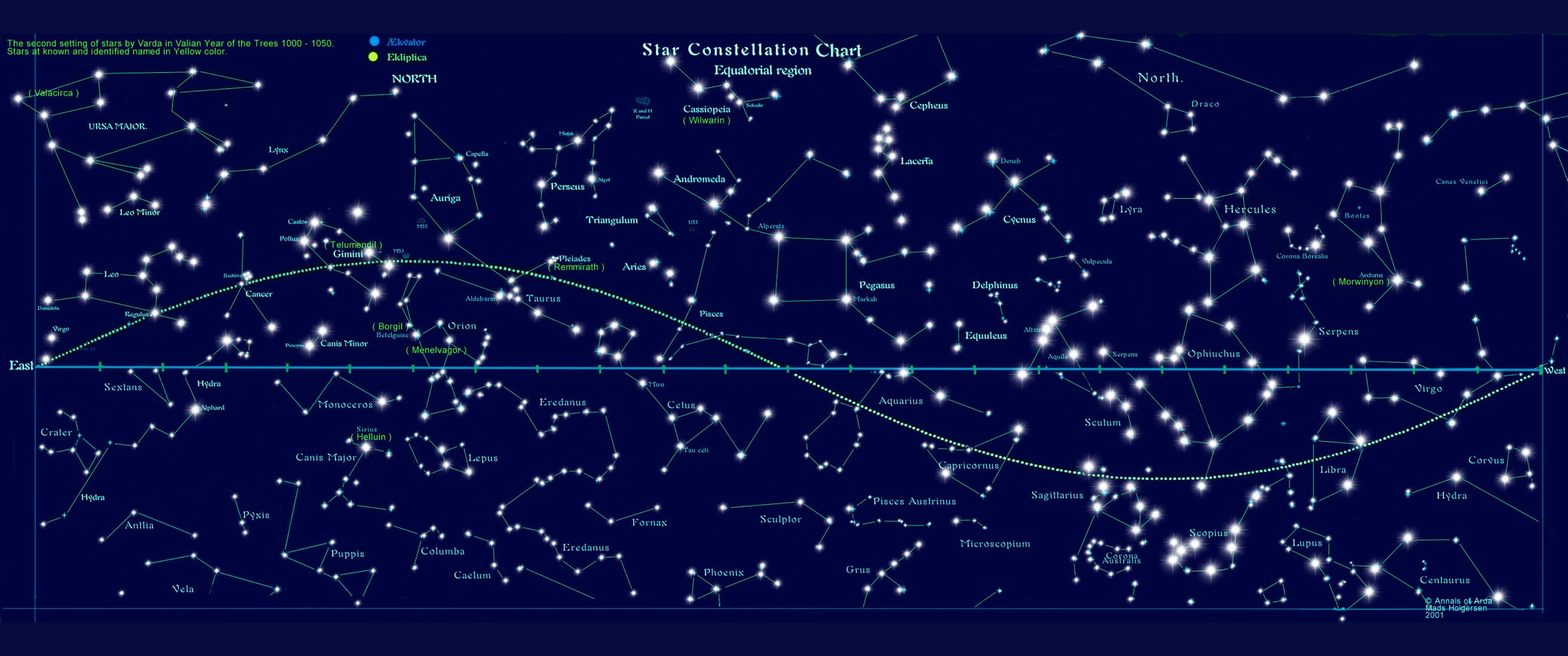 This Is A Star Map Which Shows The Stars And Connects The