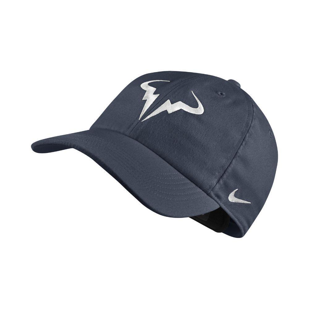 7b9a44021ab55 Nike NikeCourt AeroBill H86 Rafael Nadal Adjustable Tennis Hat (Blue ...