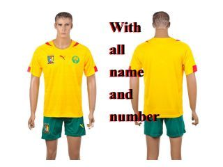 the latest 288b8 7f92b Custom Cameroon 2014 world cup away Shirt and Short soccer ...