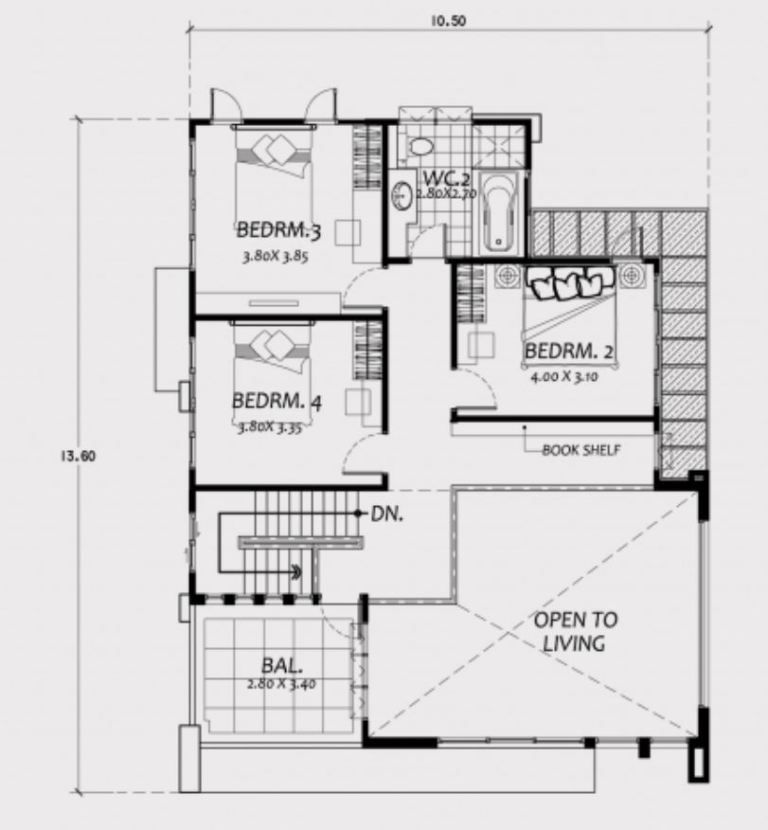 Home Design 11x15m With 4 Bedrooms Home Planssearch Floorplans4bedroombrick Floorplans4bedroomlshape Floorplans4bedroommetal Floorplans4bedroomsquare Di 2020 Rumah