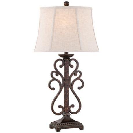 Telfair iron scroll table lamp httplampsplusproducts telfair iron scroll table lamp aloadofball Images