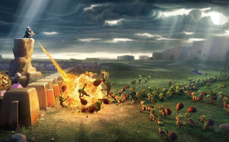 Clash of Clans wallpapers for iPhone iPad from Supercell
