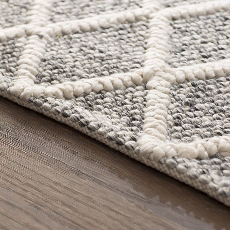 Billie Hand Tufted Cotton Ivory Black Area Rug In 2019