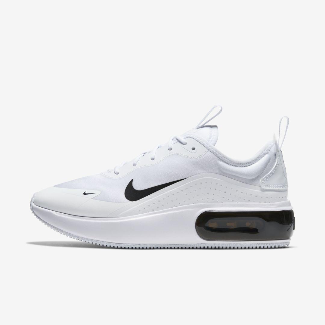 Nike Air Max Dia Women's Shoe (White)   Nike air, Nike leather ...