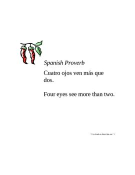 Spanish Proverbs Posters (Idioms, Dichos) | Recipes, etc