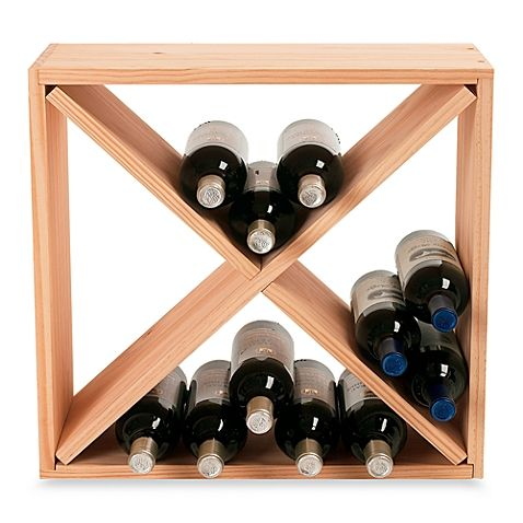 This Handsome Wine Rack Cube Maximizes Space Provides Ample