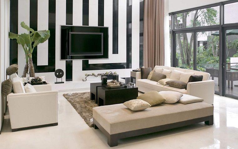 Idee Per Arredare Casa Salotto Parete Bianca Nera Luxury Living