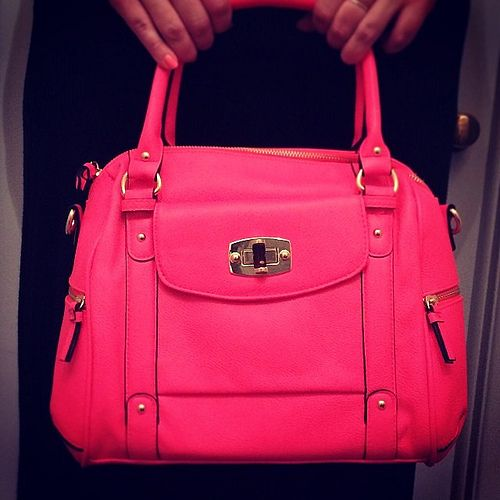 Neon Pink Purse From Target Love