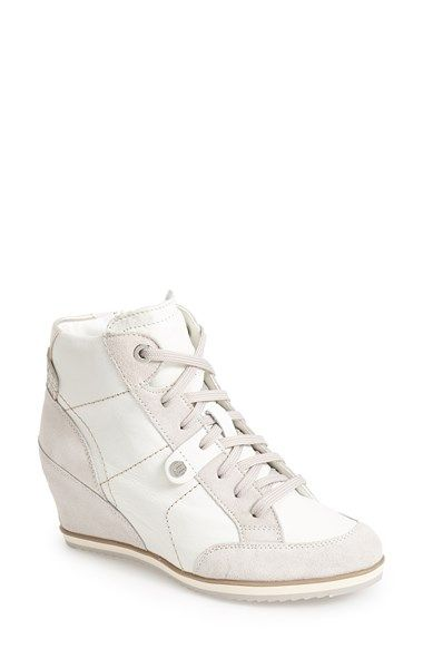 cabcbcc5077 Geox  Illusion 25  High Top Wedge Sneaker (Women) available at  Nordstrom