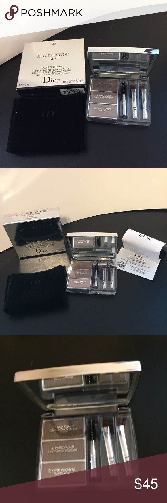 Dior All in brow3D 002 LongWear Brow Contour Kit Authentic brand new in box Dior Allinbrow Dior All in brow3D 002 LongWear Brow Contour Kit Authentic brand new in box Dio...
