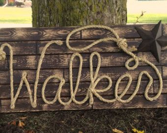 Western Rope Name Sign Cowboy Theme What A Great Idea