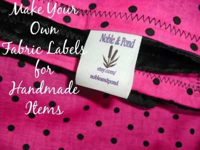 Create Your Own Fabric Tags   The Adventures of Noble  Pond