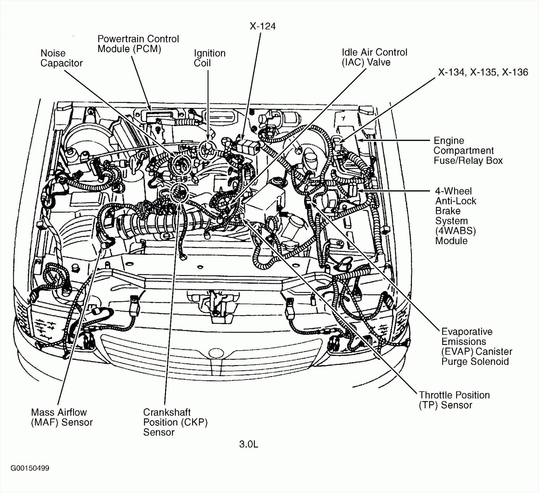 E7 Engine Bay Diagram Di 2020 Dengan Gambar Taurus Ford