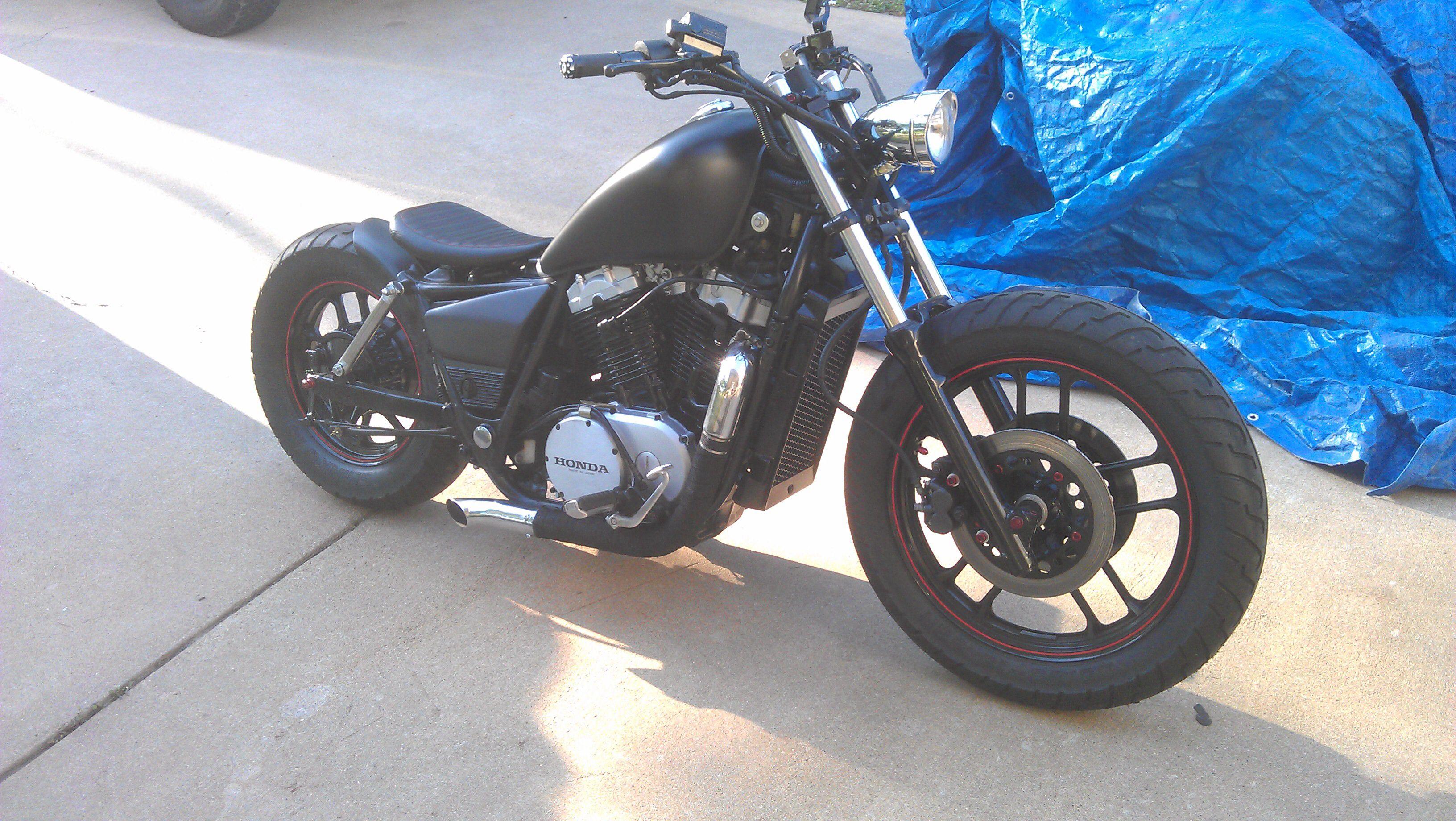85 Honda vt700c shadow stitch9 Virago Bobber, Honda Bobber, Bobber Bikes,  Bobber Motorcycle