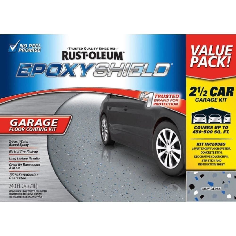 240 Oz. Floor Coating Car Garage Kit High Gloss Gray