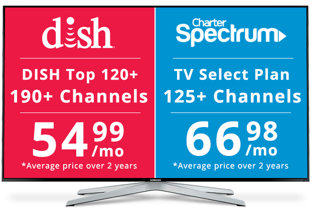 Compare DISH Network and cable from Charter Spectrum with this 2017 review. Discover the benefits of choosing DISH as your TV service provider versus Charter.