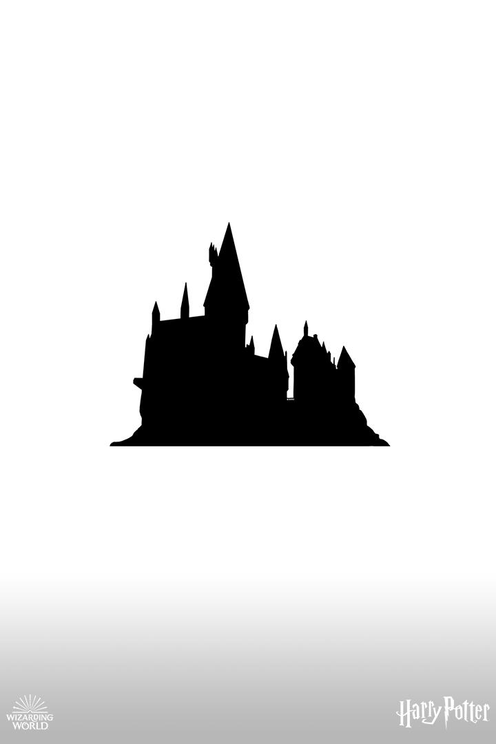 Hogwarts Castle Harry Potter Drawings Harry Potter Castle Hogwarts Silhouette