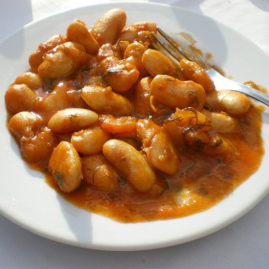 Fasolia meaning broad beans with tomato sauce  A delicious