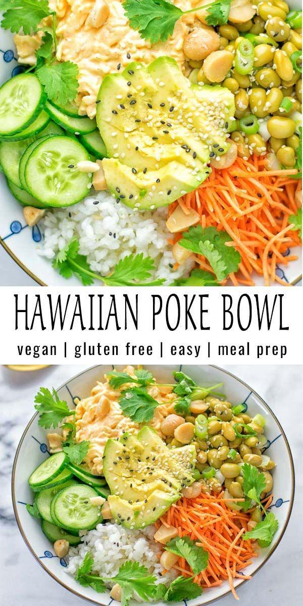 Hawaiian Poke Bowl (meal prep, vegan, gluten free) - Contentedness Cooking