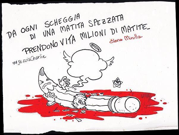 Elena Mirulla  #JeSuisCharlie #CharlieHebdo