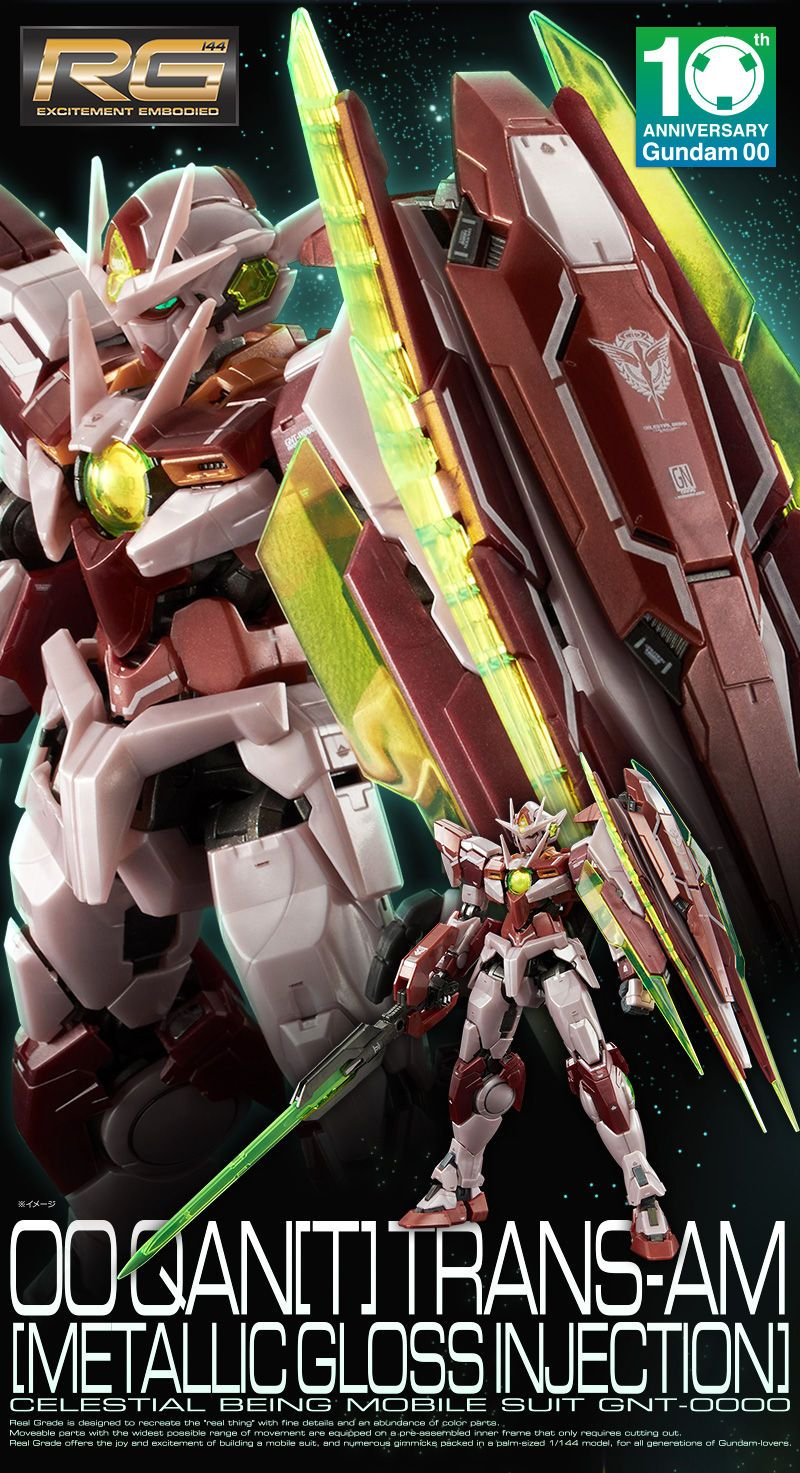 P Bandai Rg 1 144 00 Quanta Trans Am Mode Gloss Injection Gundam Release Info Box Art And Official Images Kits Collection News Reviews