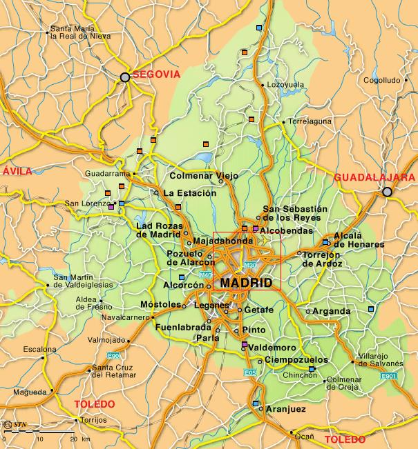 mapa comunidad de madrid mapa de madrid comarcas y municipios