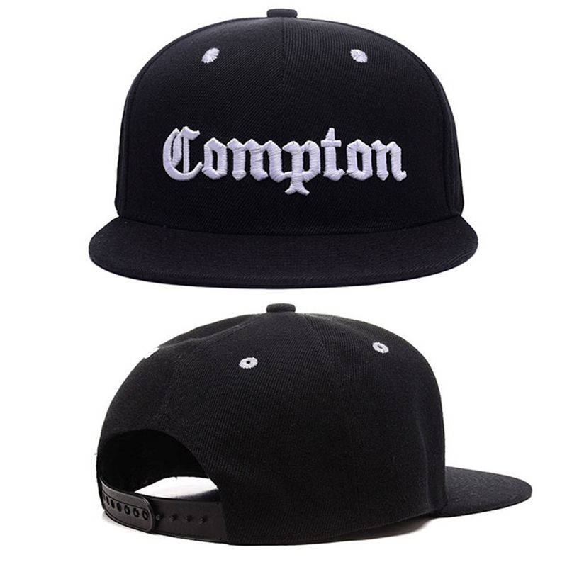 47683b2236c American street Compton solid hat baseball cap embroidery Korean hip hop  along the slide flat cap