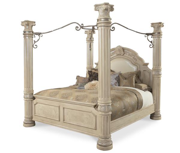 cal king canopy poster bed monte carlo ii collection michael amini