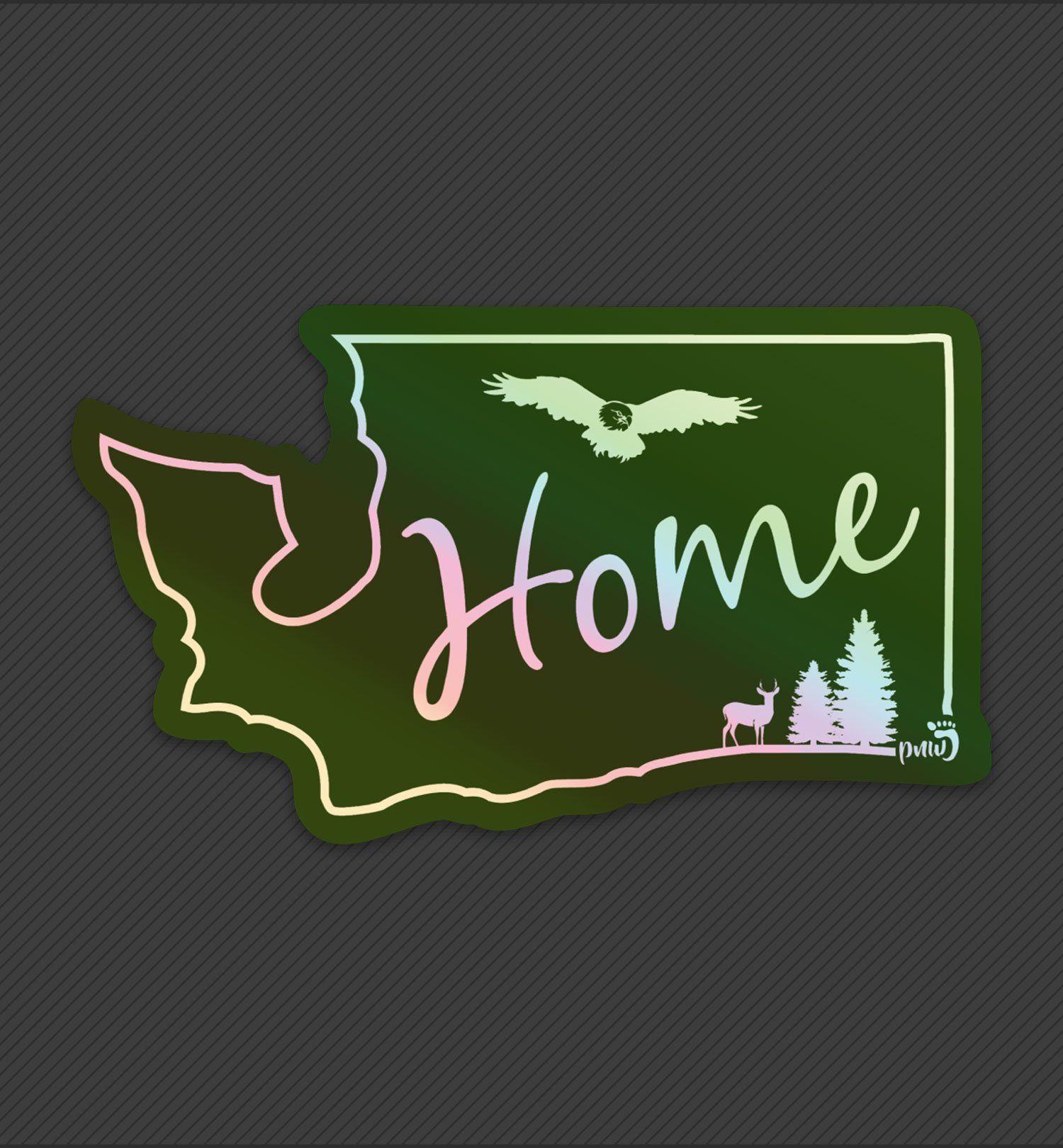 Home State Washington Holographic Sticker