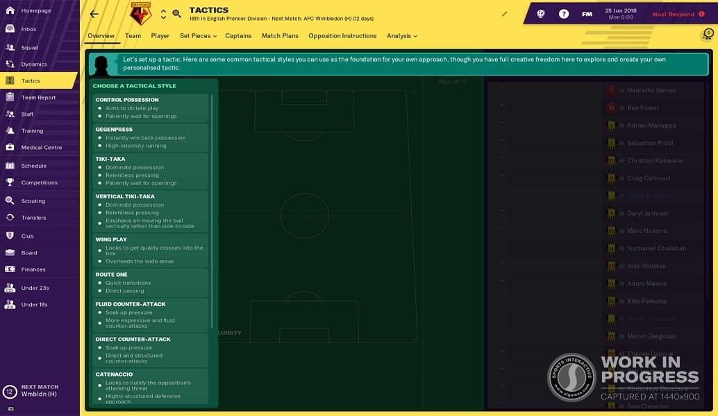 Fm19 Revamped Tactics Creator Choose Tactical Style Football Manager Management How To Plan