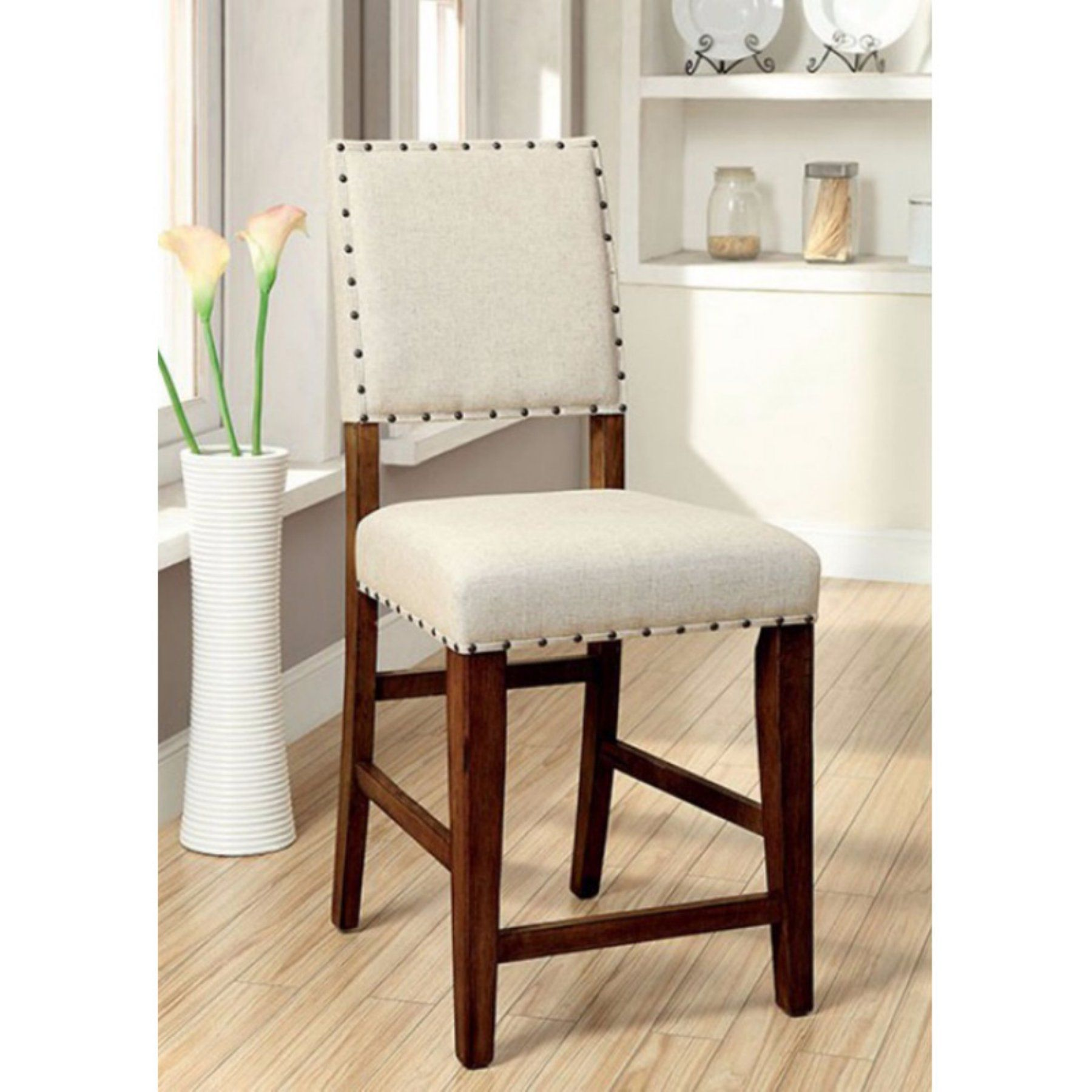 Barmöbel Set Benzara Sania Counter Height Dining Side Chair Set Of 2