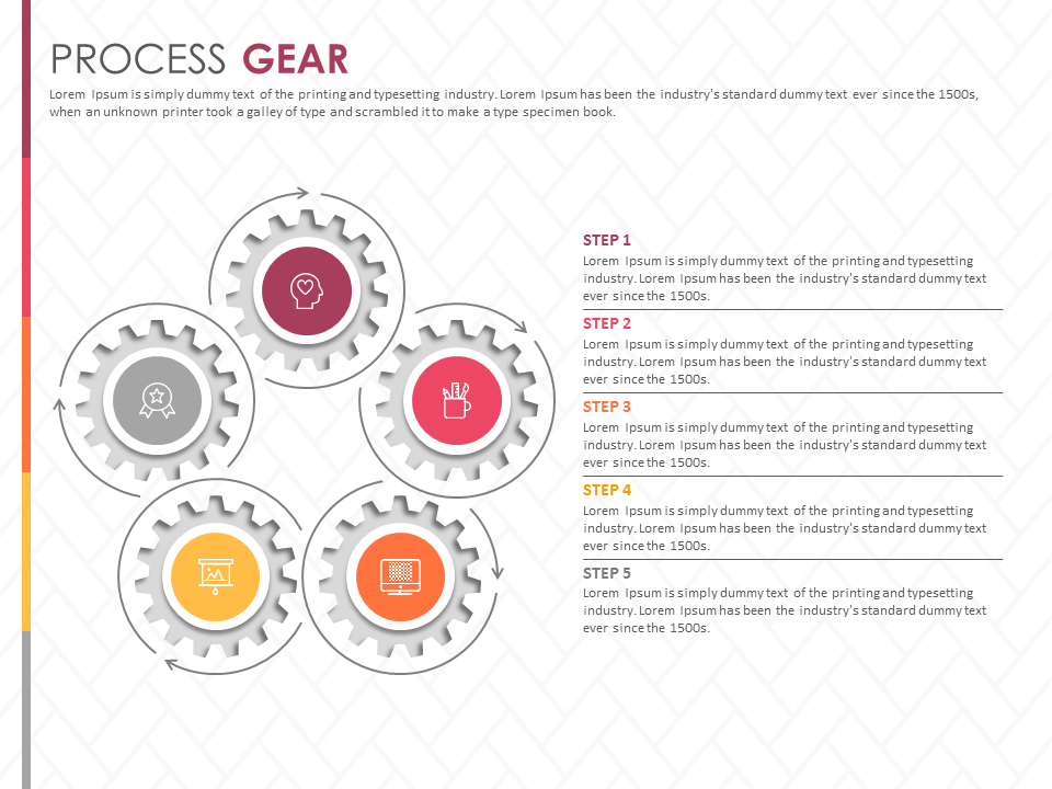 Process Gear Powerpoint Template Presentation Publicspeaking