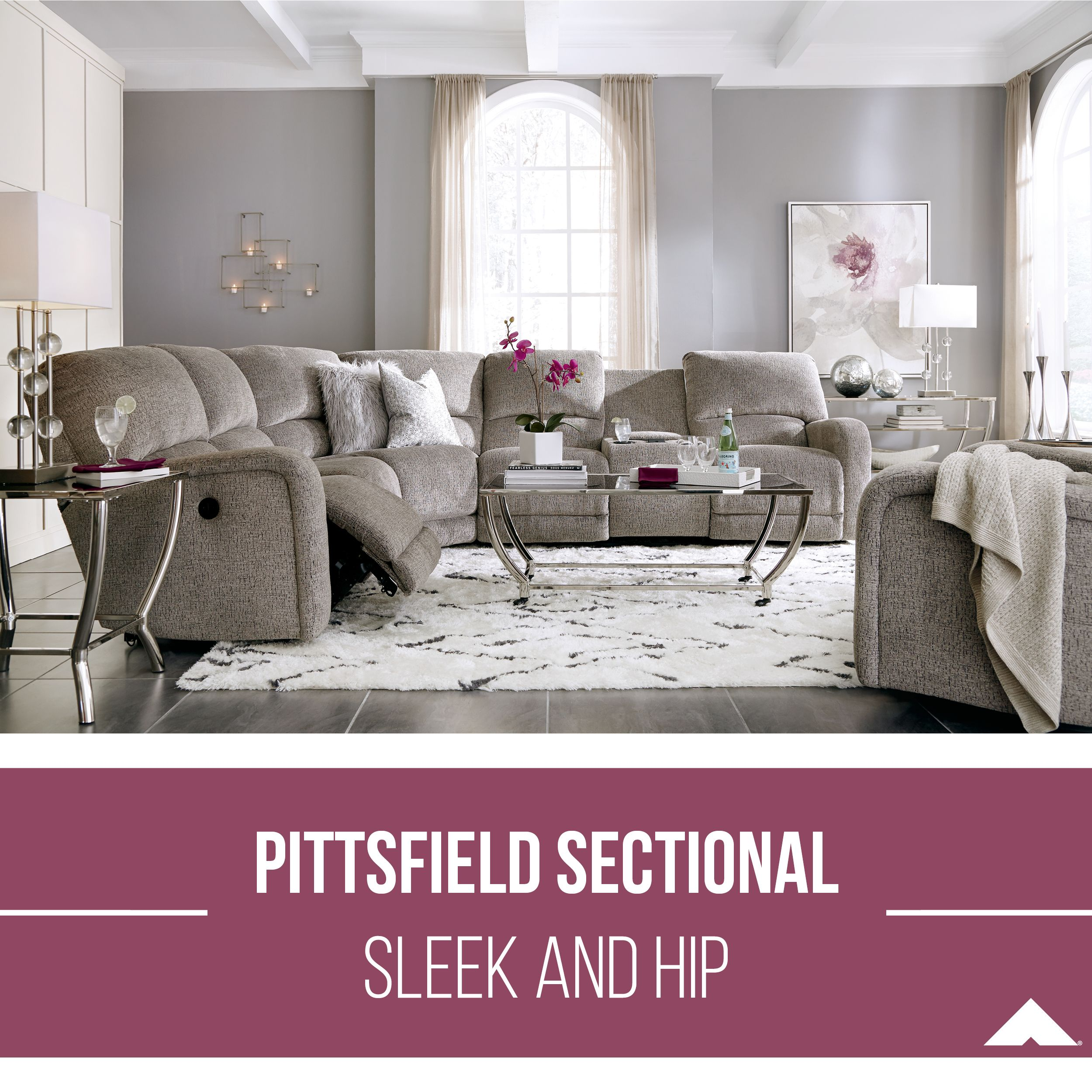 Pittsfield Fossil Sectional By Ashley Furniture Ashleyfurniture Homedecor Livingroom Livingroomdecor Livingroomfurniture Living Room Decor Living Room Furniture Family Room