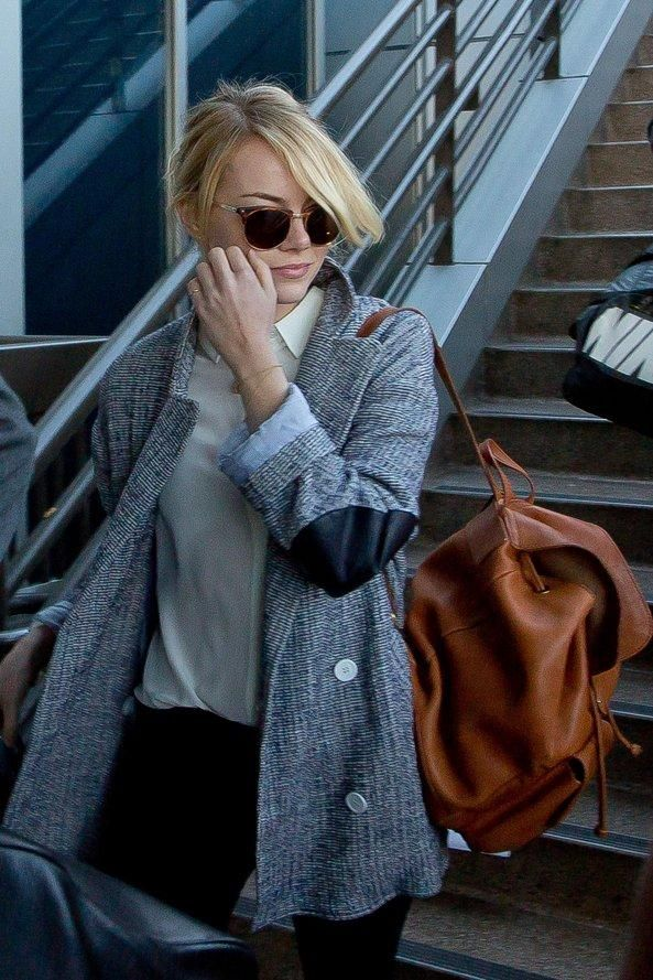 58b679fefbe The ultimate back-to-school backpack style inspiration from your favorite  models and celebs—Emma Stone