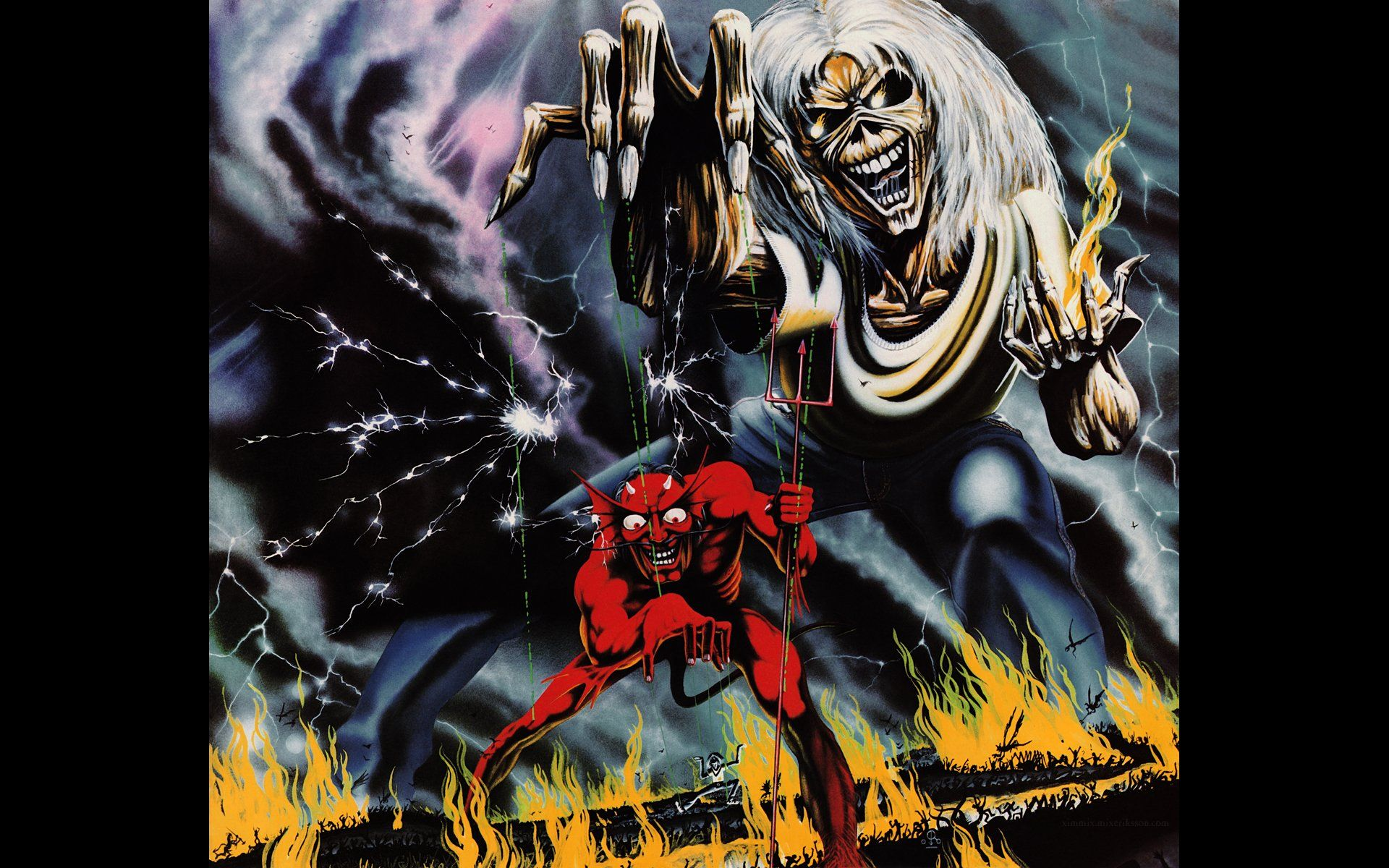 Iron Maiden Number Of The Beast Wallpaper Phone Beast Wallpaper Iron Maiden The Trooper Phone Wallpaper