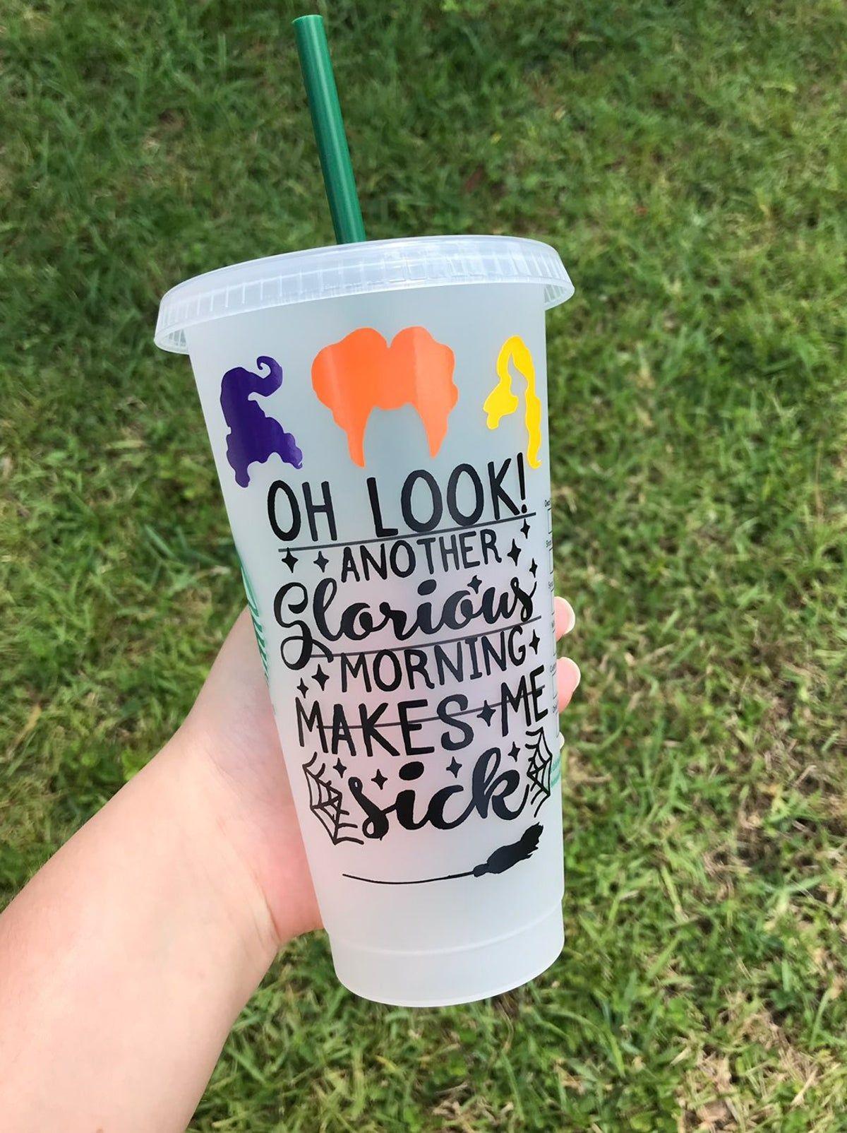 Halloween Vinyl 2020 Starbucks Hocus Pocus halloween tumbler in 2020 | Halloween cups