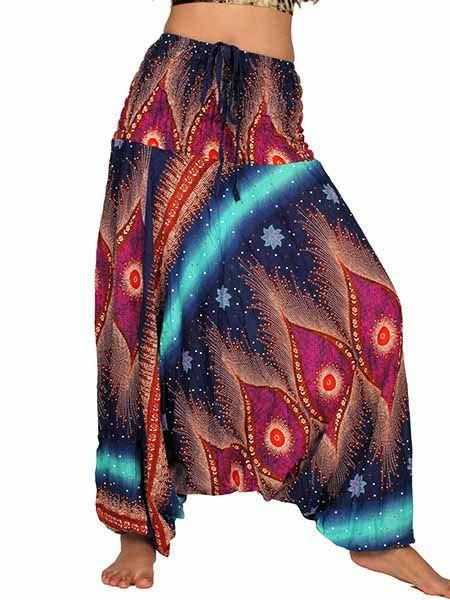 bd59715ce Pantalón hippie ancho y tiro muy largo de rayón | Venta mayorista y ...