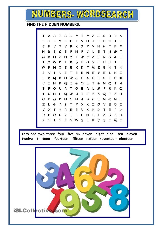 Numbers Teaching Jobs Reading Skills Learn English [ 1440 x 1018 Pixel ]