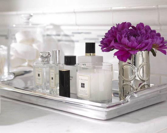 mirrored vanity tray beautified pinterest bathroom home rh pinterest co uk Vanity Trays for Bathroom Counter Bath Tray