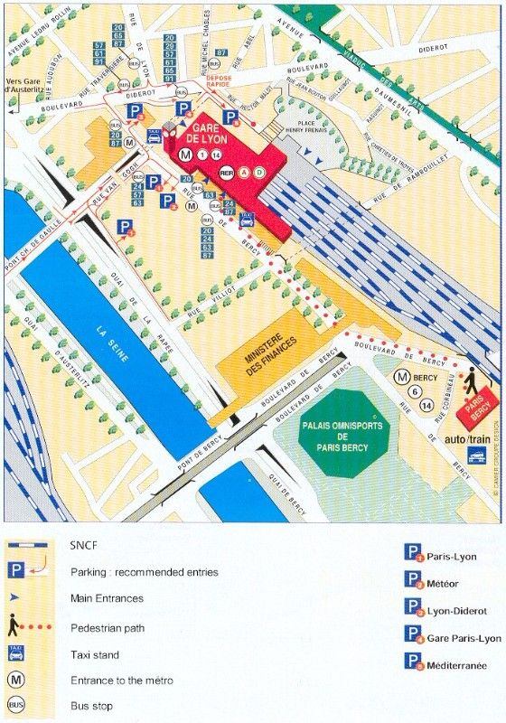 Paris Gare de Lyon Train Station | FranceTravelHolidays ... on gare montparnasse train station map, gare de lyon train schedule, gare de l'est train station map,