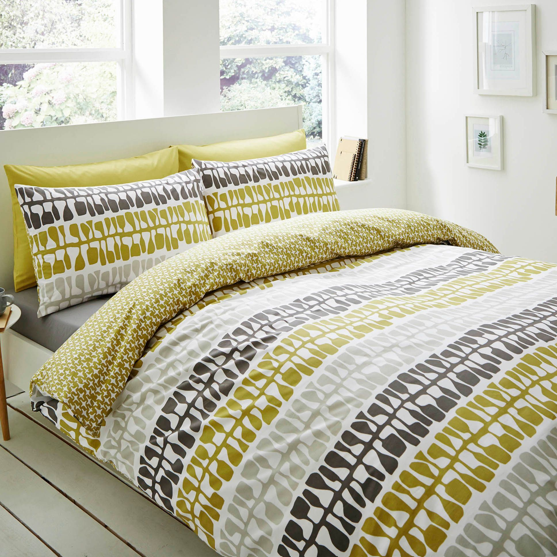 Lotta Jansdotter Follie Patterned Green King Size Bed Set