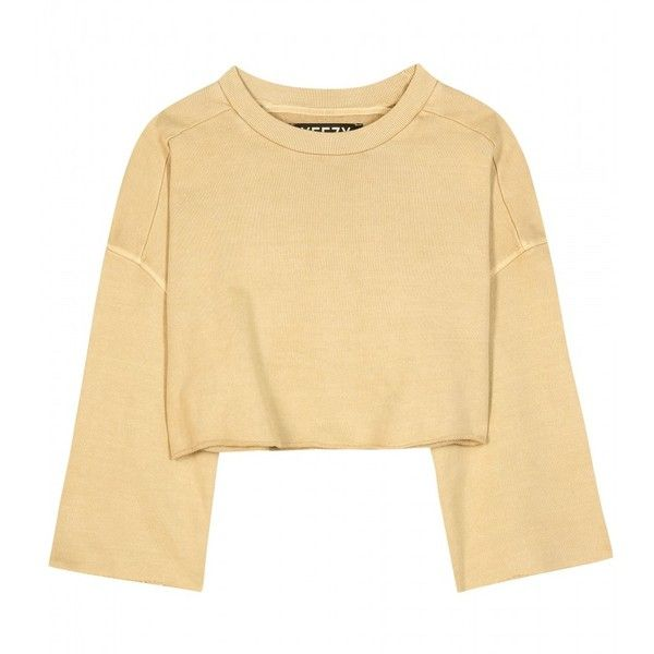 Yeezy Cropped Cotton Sweater (Season 1) (20.280 RUB) ❤ liked on ...