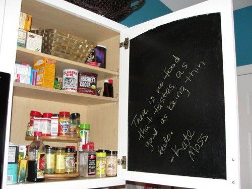 Blackboard Paint   Inside Of Cupboard