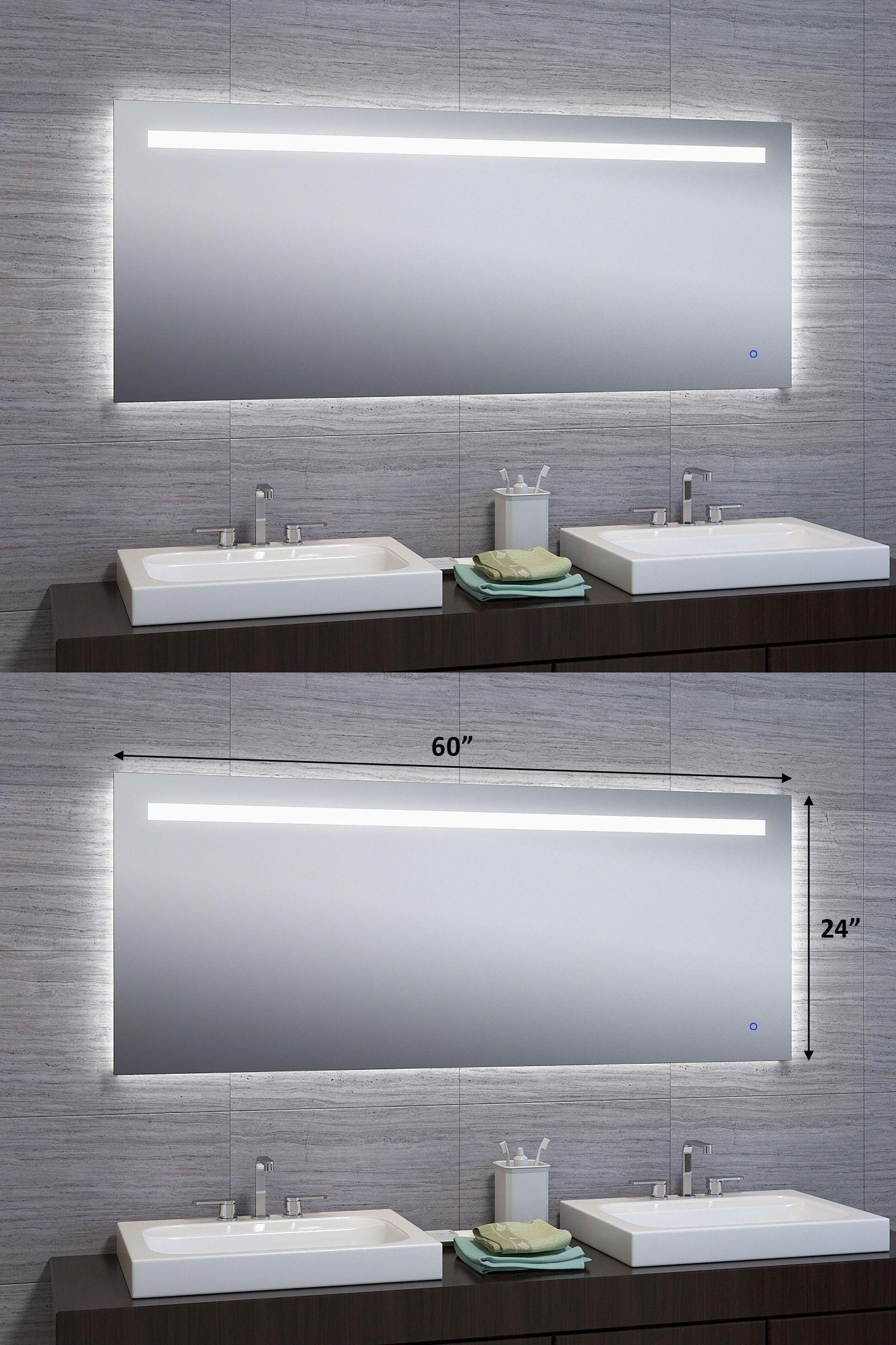 Mirrors x led illuminated wall mount bathroom vanity